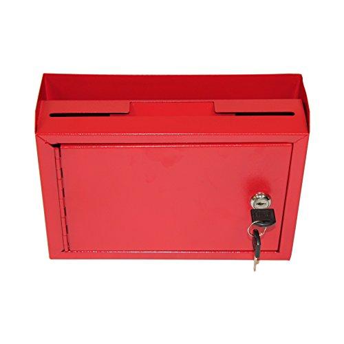 AdirOffice Multi Purpose Wall Mountable Suggestion Box, 9.75' x 7' x 3' - Red
