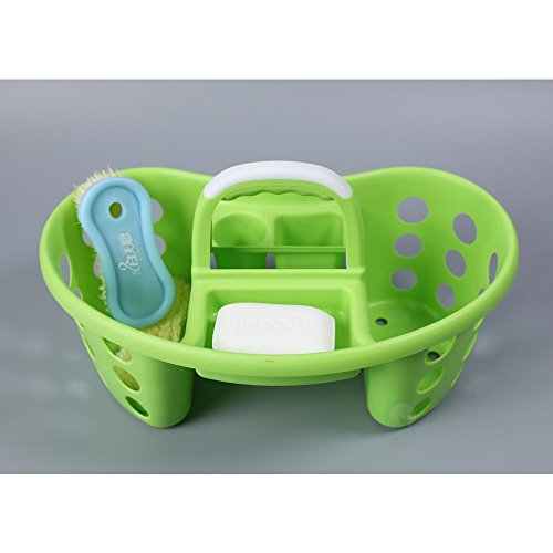 Basicwise QI003257G Portable Plastic Tool Cleaning Caddy, Green, Medium -  Quickway Imports