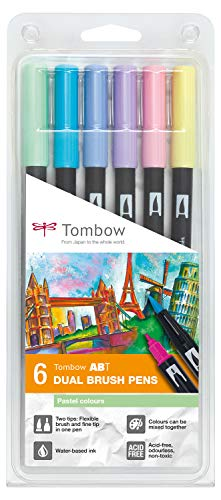 Tombow6 ABT Dual Brush Pen - Pastel-P