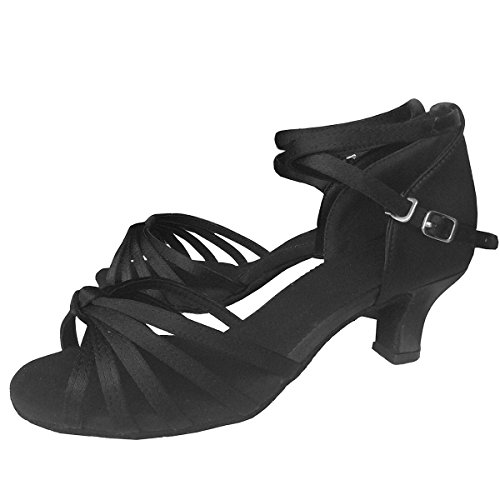 Black Ballroom Sandals Latin Shoes Knot Vesi Dance 7UK Women's vY5OqWwp