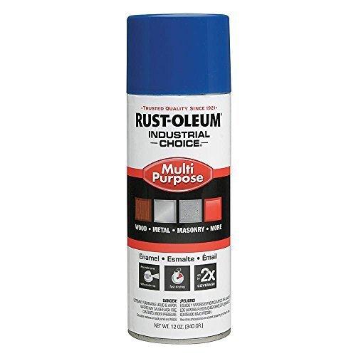 Spray Paint, OSHA Safety Blue, 12 oz. by Rust-Oleum