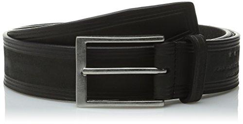 John Varvatos Embossed Belt (John Varvatos Star USA Men's 35mm Embossed Belt, Black,)