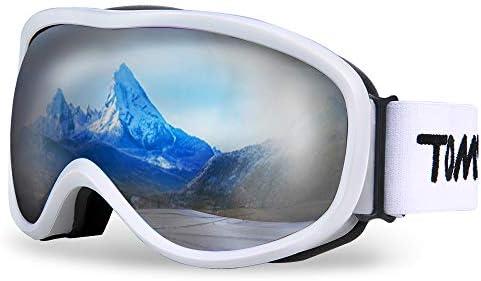 TOMSHOO Lunettes de Ski Masque de Snowboard Anti-buée Anti-UV Lunettes de Protection Coupe-Vent pour Homme et Femme