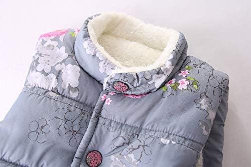 Mud Kingdom Baby Girls Winter Hoodies Faux Fur Girls Hooded Jackets Stars