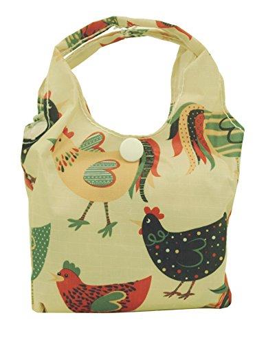 Eco Chic Foldable Shopper Bag (Chicken Cream) ()