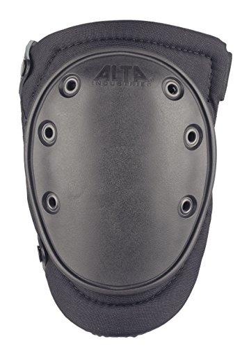 ALTA 50453.00 AltaFLEX Gel Knee Protector Pad, Black Cordura Nylon Fabric, AltaLOK Fastening, Flexible Cap, Long, Black