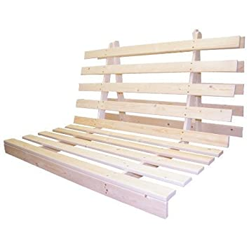 official photos e1dba 9b403 Shopisfy Quality Slatted Wooden Fold Out Futon Base - Double