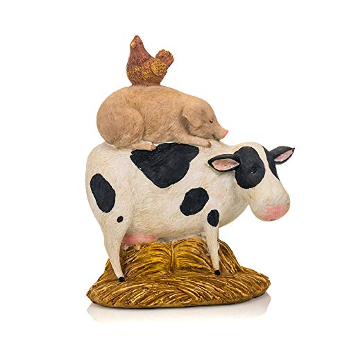 Your Heart's Delight Your Cow, Pig, Rooster Animal Stack Figure, Multi