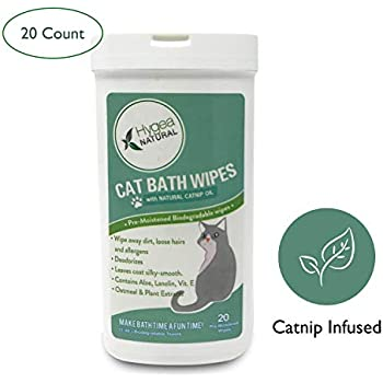 Amazon Com Hygea Natural Cat Bath Wipes With Catnip Cat