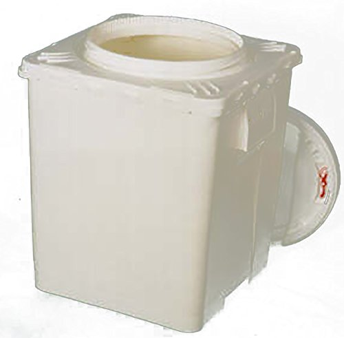 Life Latch 11 3 GAL Bucket with Screw Top Lid | Plastic | White |  Square