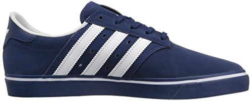 Adidas Originals Men's Seeley Premiere Fashion Sneaker, Mystery Blue White/Mystery Blue S, 11 M US