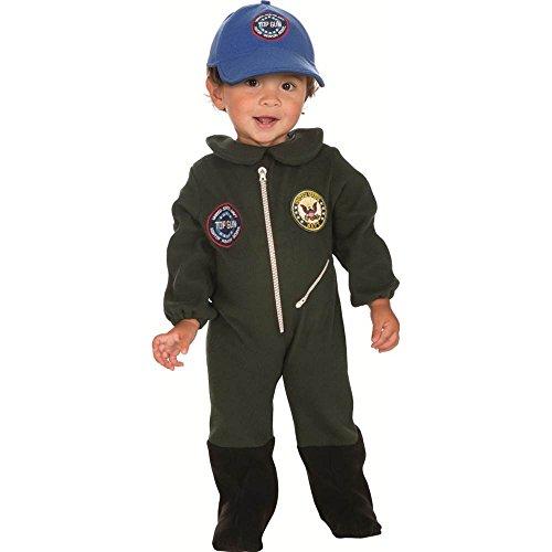 Navy Fleece Flight Suit Costume