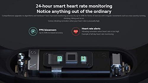 Xiaomi Mi Smart Band 5 (2020) Pantalla a color AMOLED de 1,1 pulgadas, pulsera impermeable IP68 BT 5.0 Fitness, Sleep, frecuencia cardíaca 24/7, deportes, natación, rastreador de salud (modelo global, negro) 5