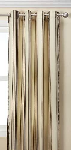 Outdoor decor Gazebo Stripe Indoor Outdoor Window Panels, 50 by 96, Khaki