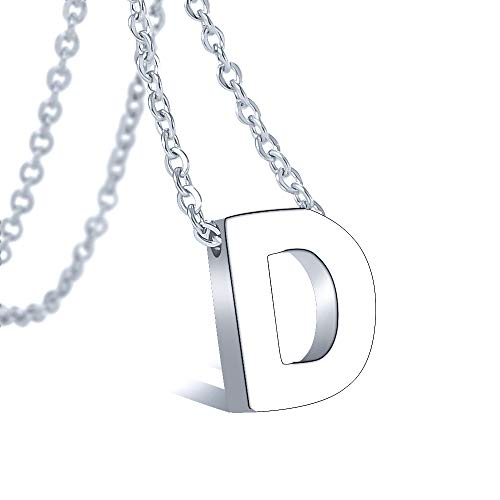 Bala Initial Letter Necklace 316 Stainless Steel for Women Wedding Initial D