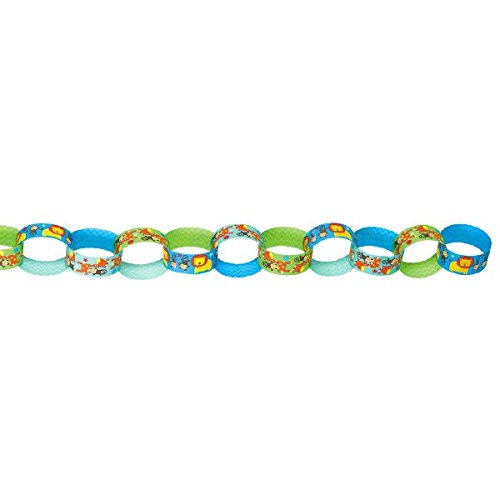 One Wild Boy Printed Paper Chain Link Garland, Birthday