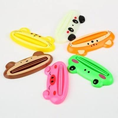 Toothpaste Tube Squeezer Easy Squeeze Paste Cartoon Frog/animal Dispenser Roll Holder (Pack of 10 Pcs.)