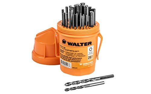 Walter Surface Technologies 01E118 Quick Shank Jobber Length Bits - 29 Piece SST Drill Bit Set with Cobalt Blend. Drilling Tools and Accessories by Walter Surface Technologies