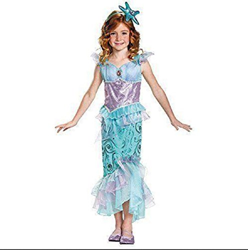 Official Disney Ariel Costume (Disguise Ariel Disney Little Mermaid Sequin Costume with Matching Headband  Medium (7-8))