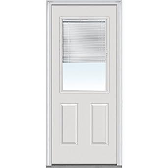 National Door Company ZA00153 Fiberglass Smooth, Primed, Left Hand Inswing,  Exterior Prehung Door