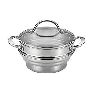 Anolon Classic Stainless Steel Universal Covered Steamer Insert