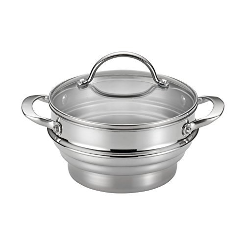 Anolon 77447 Classic Steamer, Medium, Stainless Steel