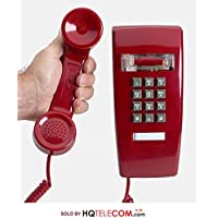 Industrial Wall Phone with Dialpad & Wallplate - RED by HQTelecom