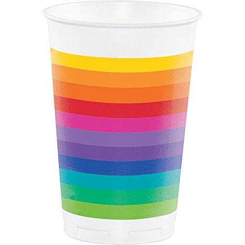 Creative Converting Printed Plastic Rainbow