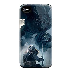 Top Quality Rugged Dark Souls Elite Knight Fighting Iron Golem Case Cover For Iphone 4/4s