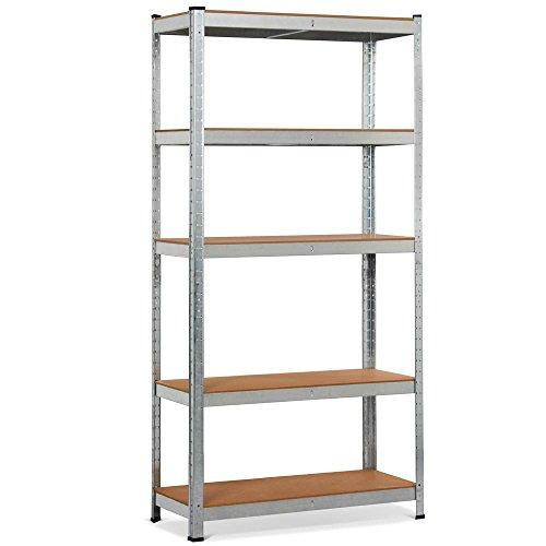 Topeakmart 5 Tier Storage Rack Heavy Duty Adjustable Garage Shelf Steel Shelving Unit,71