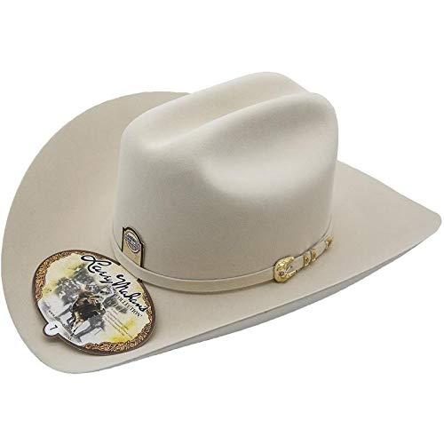 Larry Mahan 500X Superior Fur Felt Cowboy Hat White Size 6 5//8 Brim 4 Traditional