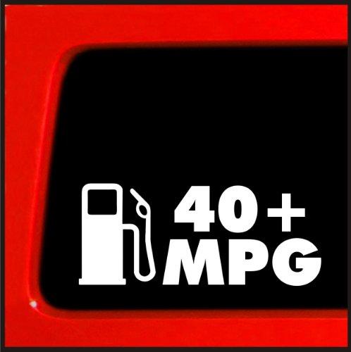 40+ mpg - JDM Sticker for Hybrid honda decal funny car truck import slammed (Jdm Honda Stickers)