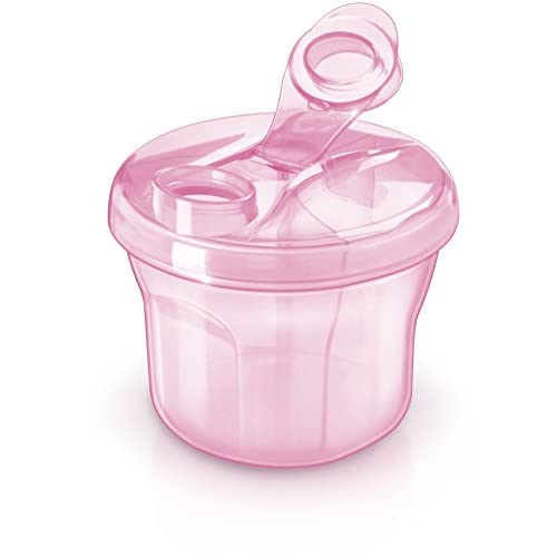 Cyan Burabi Baby Formula Snack Dispenser Stackable Portion Container for Travel 3 Compartments Non-Spill