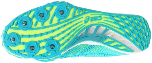Asics Donna Gel-dirt Diva 4 Track And Field Shoe Limeade / Neon Turquoise