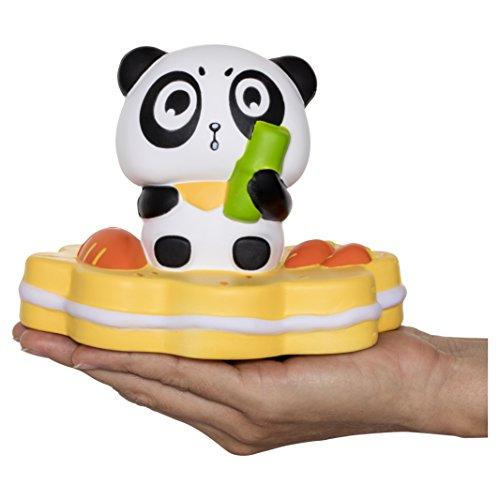 Delmach Jumbo Panda Squishy | Very Slow Rising | Premium Kawaii Gift Box | Fruit Scented Fun | Stress Reliever Adults Kids Boys Girls | Squishies Non Toxic Eco Friendly