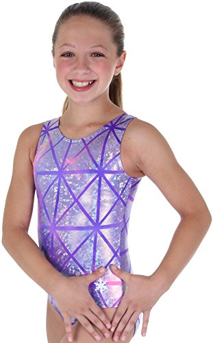 Snowflake Designs Leotards - Snowflake Designs Purple Laser Tag Gymnastics or Dance Leotard (Adult Extra Small)