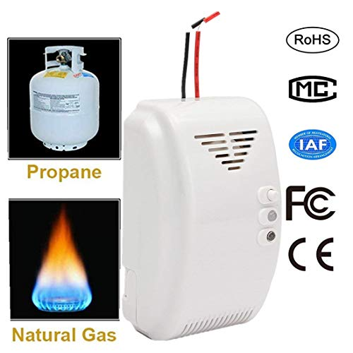 - Gas Leak Detector 12V Combustible Gas Leak LPG Natural Gas Detector Propane Alarm with Dry Contact Relay Output