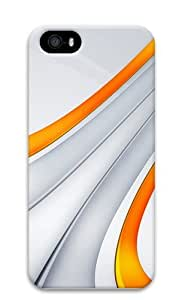 3D Orange And Silver Stripe Polycarbonate Hard 3D Case Cover for iPhone 5 and iPhone 5S