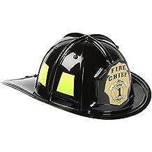 Aeromax Jr. Firefighter Helmet, Black, Adjustable Youth Size