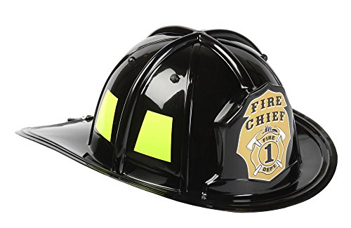 Firefighter Black Helmet Child - Aeromax Black Fire Chief Helmet