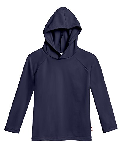 City Threads Baby Boys' and Girls' Hooded Long Sleeve Rashguard For Sun Protection Beach Pool Swimming Tee, Navy, 18/24m by City Threads