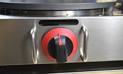 Intbuying LP Gas Crepe Machine Griddle, Commercial Plate Crepe Machine Snack Machine Hot Plate (Double plates)#134042 by INTBUYING (Image #1)