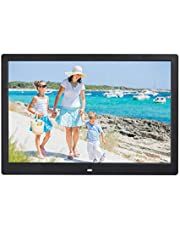 Digital Photo Frame 32GB SD(Not included) Card 10 Inch 1024x600(Require photo pixels below this value,Otherwise, the picture may not be displayed) High Resolution IPS Display Digital Picture Frames Auto-Rotate Image Preview Background Music Video Calendar with Remote Control