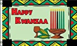 KWANZAA FLAG, 3'x5' cloth poster banner