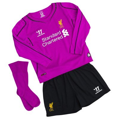 check out 2fe83 5f05d Liverpool Kids (Boys Youth) Home Goalkeeper Kit 2014 - 2015 ...