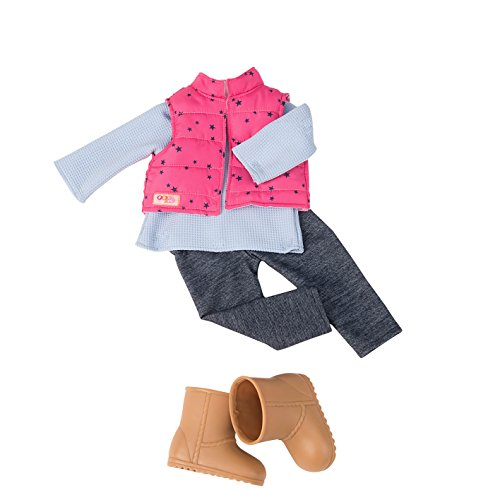 Our Generation Dolls Trekking Star Print Vest with Trousers Outfit for Dolls, 18