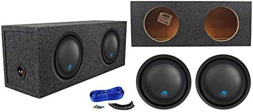 2 subwoofers de audio para coche ALPINE S-W10D2 de 10 pulgadas y caja de subwoofer sellada: Amazon.es: Instrumentos musicales