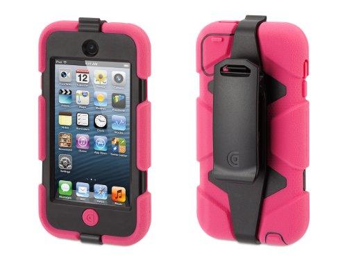 - Griffin Pink/Black Survivor Case + Belt Clip for iPod Touch (5th/ 6th gen.)