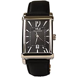 Ted Lapidus - Men's 5-7-12 Black Dial Tank Watch with Date
