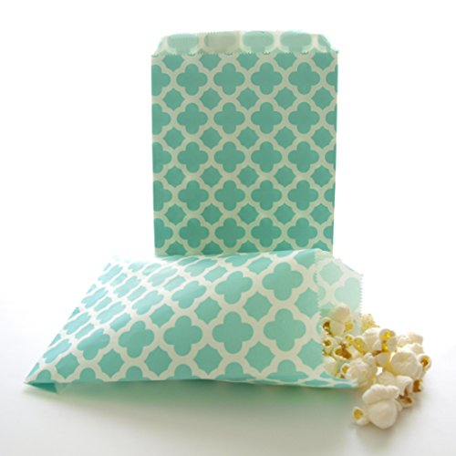 - Teal Green Spanish Tile Floral Favor Bags (25 Pack) - Birthday Party Piñata Bags, Wedding Candy Bags, Toy or Treat Loot Bags